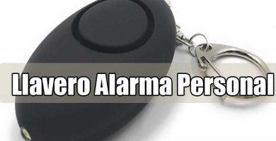 Llavero con alarma personal